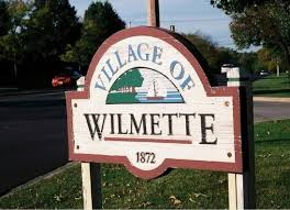 Village of Wilmette welcome sign