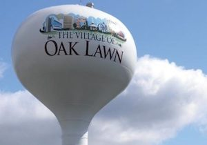The village of Oak Lawn's water tower